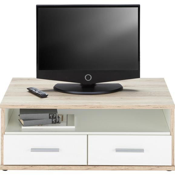 TV-Element in Weiß/Eichefarben - Eichefarben/Weiß, Holz/Holzwerkstoff (92/40/59cm) - Modern Living