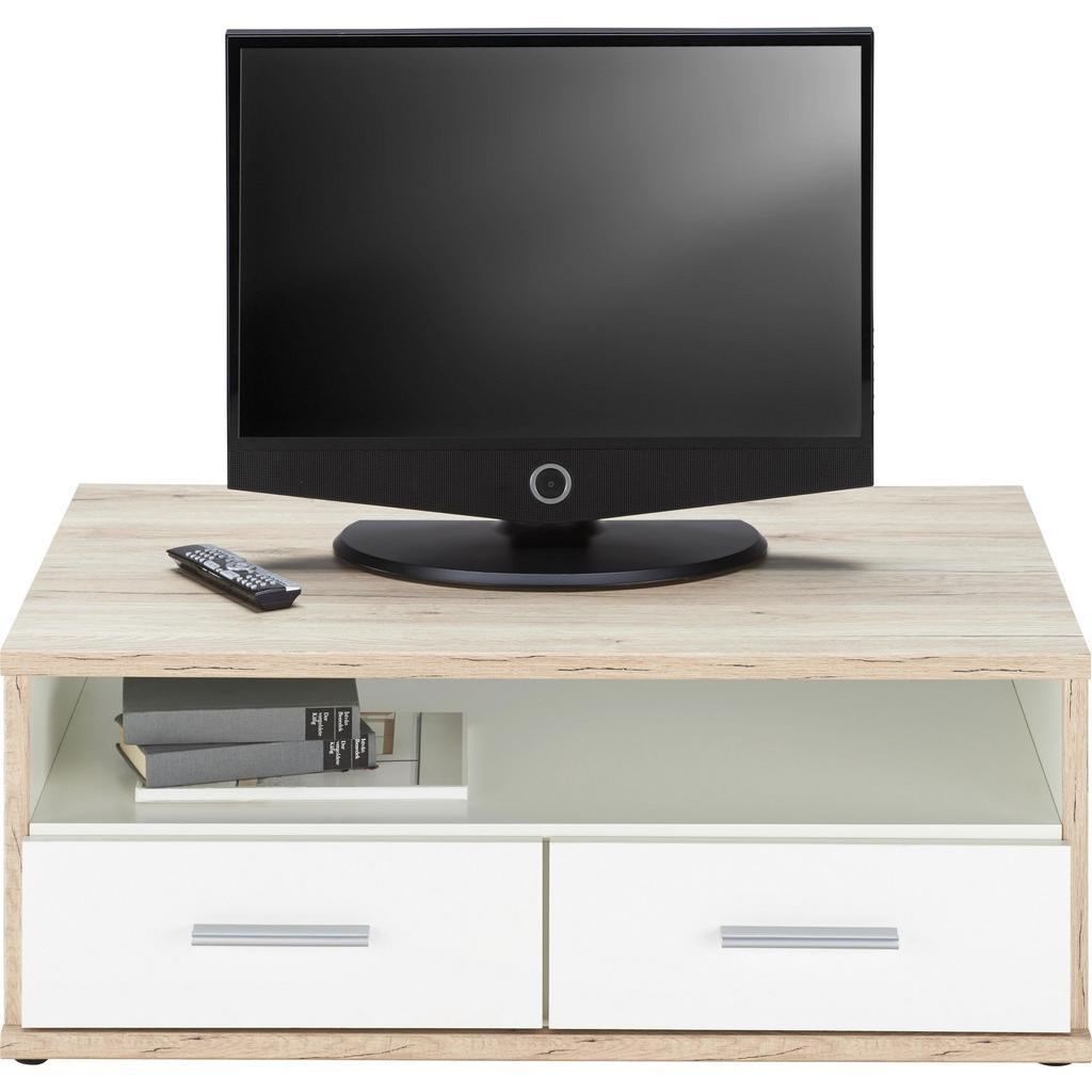 TV-Element Weiß/Eichefarben