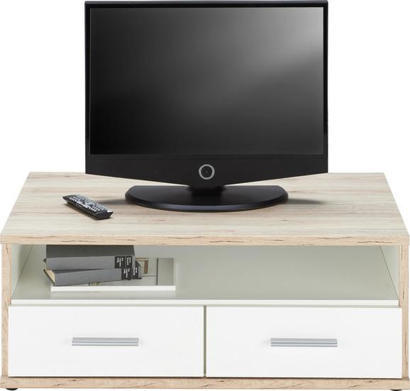 TV-Element Weiß/Eichefarben - Eichefarben/Weiß, Holz/Holzwerkstoff (92/40/59cm) - Modern Living