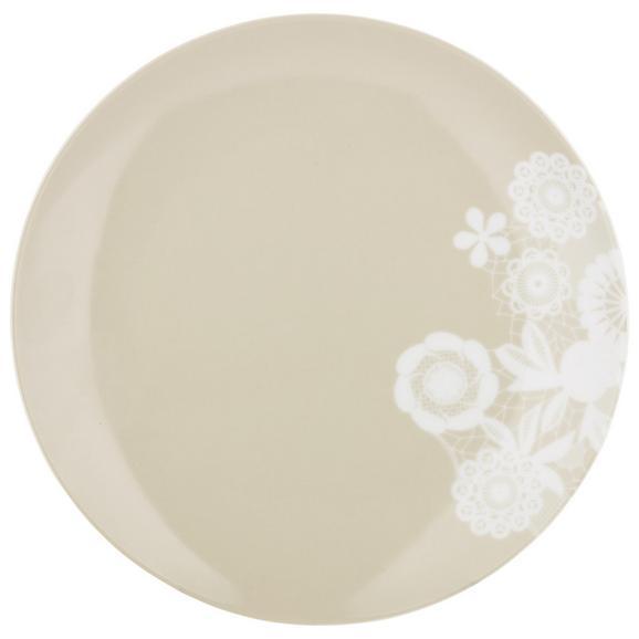 Desertni Krožnik Lacey - siva, Romantika, keramika (20cm) - Mömax modern living