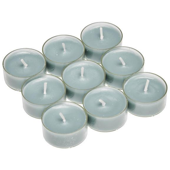 Čajna Svečka Lia - prozorna/svetlo siva, umetna masa