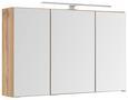 Spiegelschrank Eichefarben - Chromfarben/Eichefarben, MODERN, Glas/Holzwerkstoff (100/66/20cm)