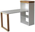 Schreibtisch Weiß - Weiß, LIFESTYLE, Holzwerkstoff (140/114/63,8cm) - Premium Living
