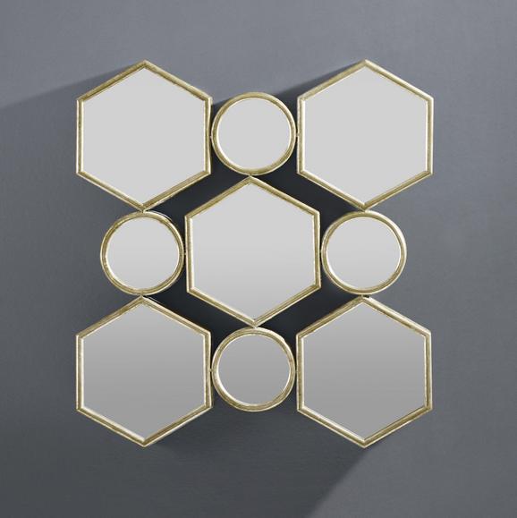 Wandspiegel Beni - Goldfarben, MODERN, Glas/Holzwerkstoff (88/85,5/6,5cm) - Mömax modern living