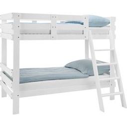 Etagenbett Weiß 90x200cm - Weiß, MODERN, Holz (205/165/100cm) - ZANDIARA
