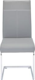 Schwingstuhl Grau - Chromfarben/Weiß, MODERN, Textil/Metall (44/98/59cm) - Mömax modern living