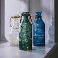 Dekoflasche Largo mit Led Ø/h ca. 10/28,5 cm - Grün, MODERN, Glas (10/28,5cm) - Mömax modern living