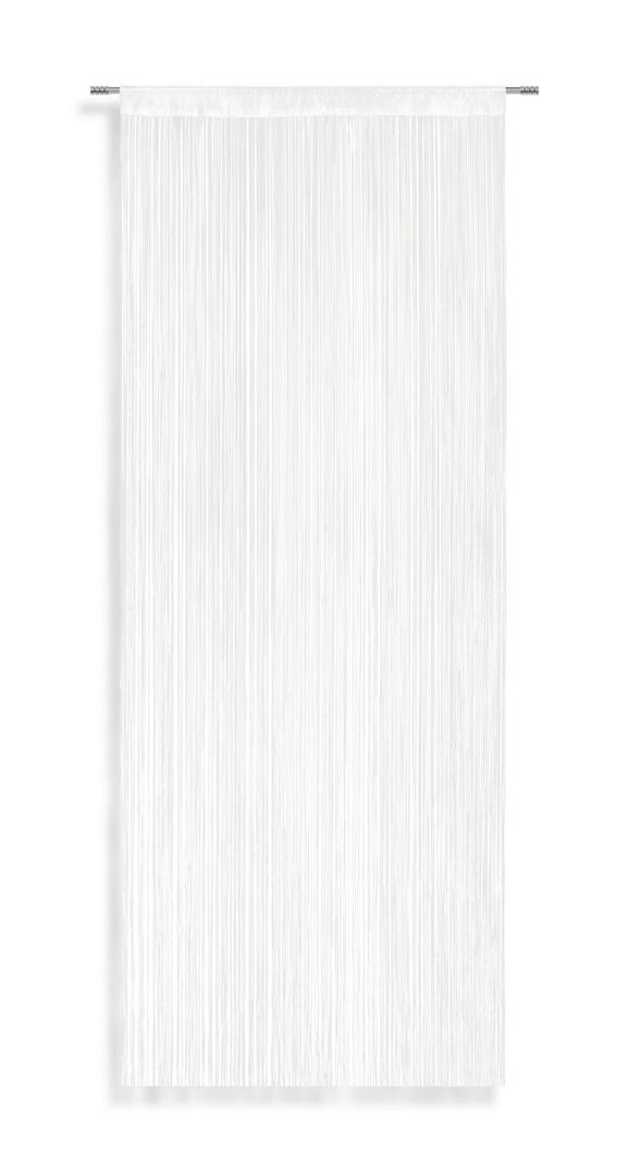 Fadenstore String in Weiß, ca. 90x245cm - Weiß, Textil (90/245cm) - LUCA BESSONI