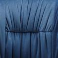 Stuhl Vani - Blau/Schwarz, MODERN, Textil/Metall (63/81/51cm) - Modern Living
