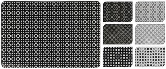 Tischset Shiva verschiedene Designs - Schwarz/Weiß, LIFESTYLE, Kunststoff (43,5/28,5cm)