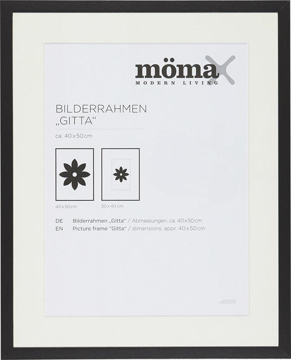 Bilderrahmen Gitta ca. 40x50cm Schwarz - Schwarz, MODERN, Glas/Holz (40/50cm) - Mömax modern living