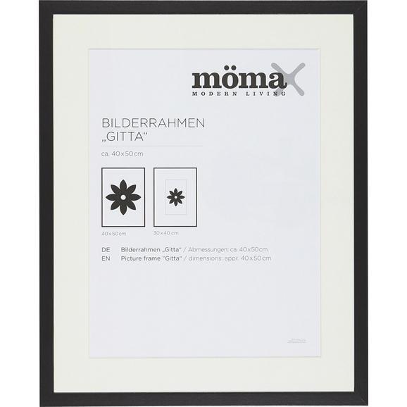 Bilderrahmen Gitta ca. 40x50cm Schwarz - Schwarz, MODERN, Glas/Holzwerkstoff (40/50/3,6cm) - Mömax modern living