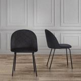 Stuhl Selina - Schwarz, MODERN, Textil/Metall (48,5/78/54cm) - Mömax modern living