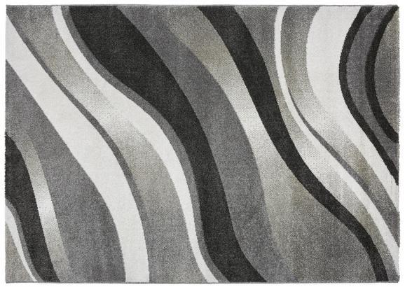 Webteppich Tina ca. 80x150cm - Anthrazit/Weiß, KONVENTIONELL, Textil (80/150cm)