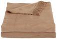 Odeja El Sol - svetlo rjava, tekstil (150/200cm) - Mömax modern living