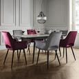 Stuhl Valentine - Rot/Schwarz, MODERN, Holz/Textil (66/92/62cm) - Bessagi Home
