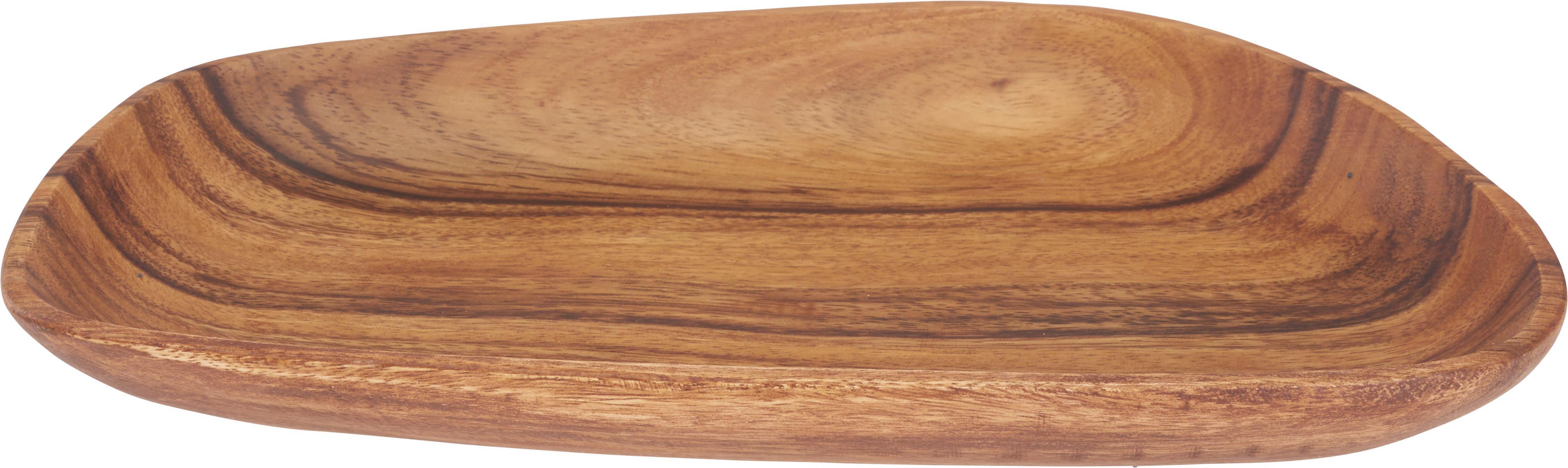 Dekoteller Masai in Braun aus Holz - Braun, LIFESTYLE, Holz (36/23/3cm) - MÖMAX modern living