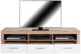 Element Tv Malta - Alb/Culoare stejar, Modern, Lemn (185/50/42cm)