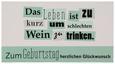 Postkarte Michael, ca. 12,5x23cm - Schwarz/Weiß, Papier (12,5/23cm) - Mömax modern living