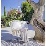 Viseč Sedež Valencia - bela, Moderno, kovina/tekstil (80/40/60cm) - Zandiara