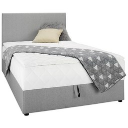 Boxbett in Grau ca. 120x200cm - Grau, KONVENTIONELL, Textil (120/200cm) - Modern Living