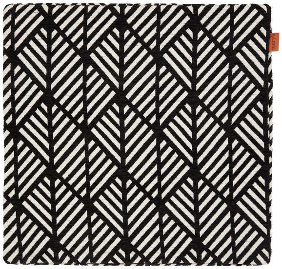 Kissenhülle Mary Jacquard Schwarz 45x45cm - Schwarz, MODERN, Textil (45/45cm) - Mömax modern living