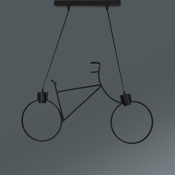 Viseča Svetilka Bike - črna, Trendi, kovina (77,5/122cm) - Mömax modern living