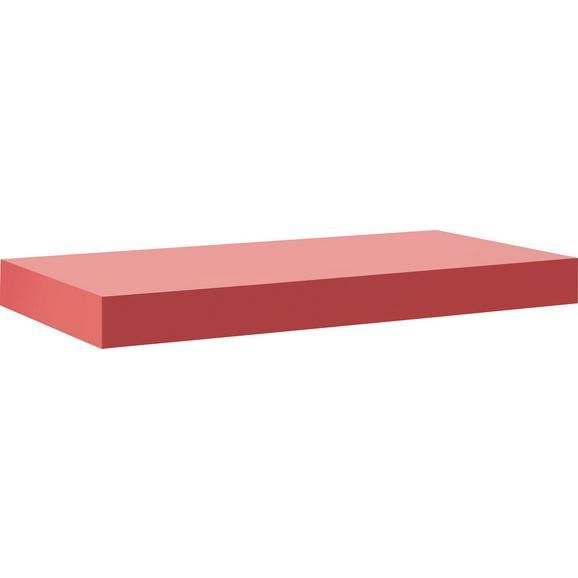 Stenska Polica Anja - rdeča, leseni material (50/44/24cm) - Mömax modern living