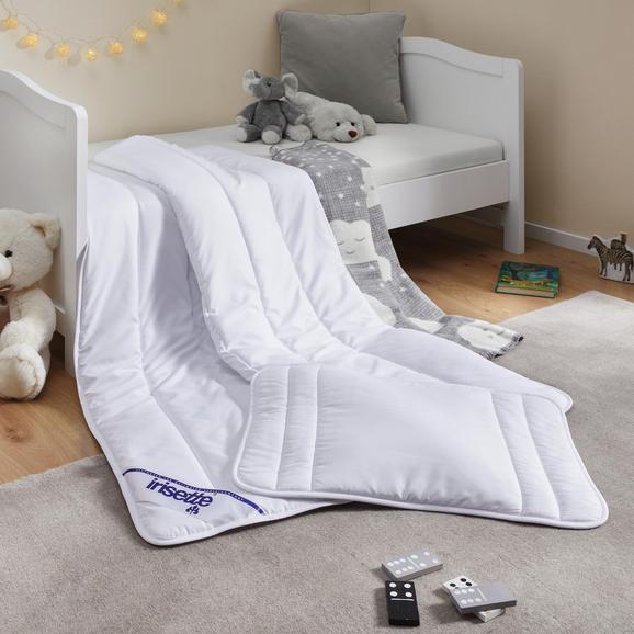 Kinderbettdecke + Kissen ca.100x135cm/40x60 cm - Weiß, MODERN, Textil - Irisette