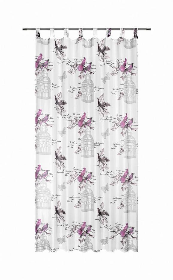 Készfüggöny Romana - pink, romantikus/Landhaus, textil (140/245cm) - MÖMAX modern living
