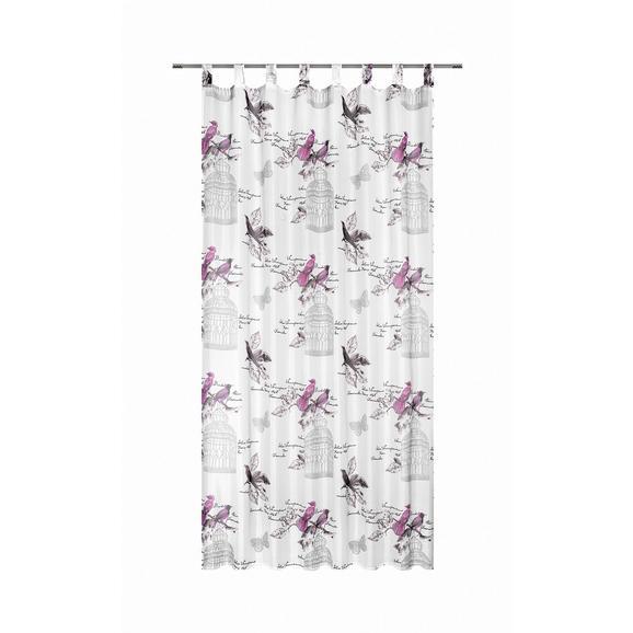 Schlaufenvorhang Romana ca. 140x245cm - Pink, ROMANTIK / LANDHAUS, Textil (140/245cm) - Mömax modern living