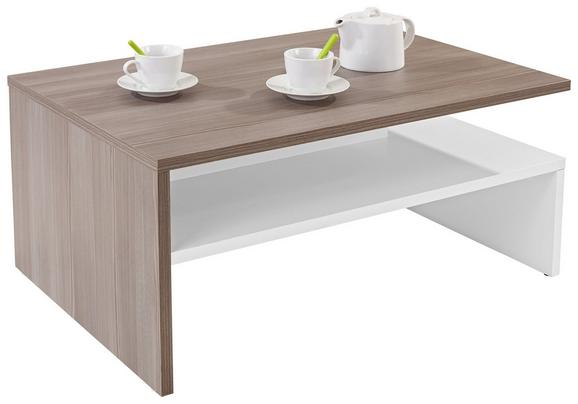 Klubska Miza Laura - bela/hrast, leseni material (90/42/60cm) - Mömax modern living