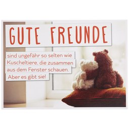 Postkarte Gute Freunde - Multicolor, Papier (14,8/10,5cm)