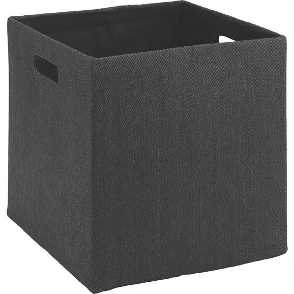 Tárolódoboz Bobby - Antracit, modern, Papír/Műanyag (33/32/33cm) - Mömax modern living