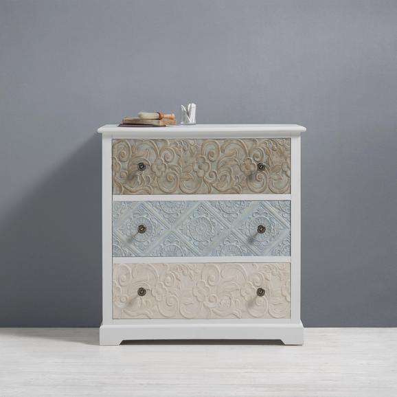 Kommode Avery - Multicolor, MODERN, Holz/Metall (85/89/40cm) - Premium Living