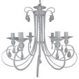 Hängeleuchte Jari, max. 28 Watt - Weiß, ROMANTIK / LANDHAUS, Metall (58/100cm) - Premium Living