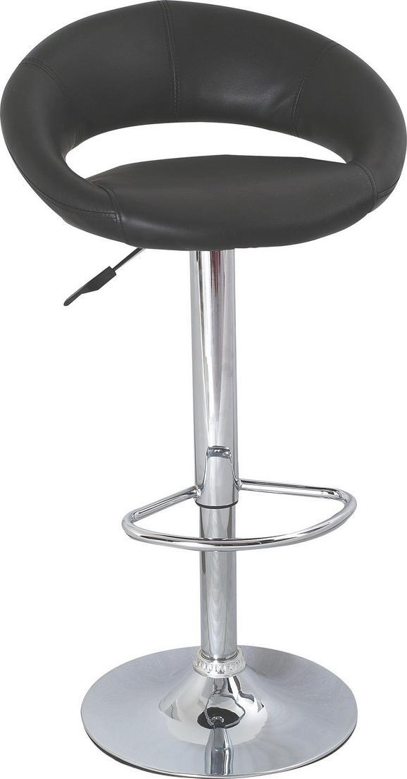 Barski Stol Walker - črna/krom, Trendi, kovina/umetna masa (50/82-103/56cm) - Mömax modern living