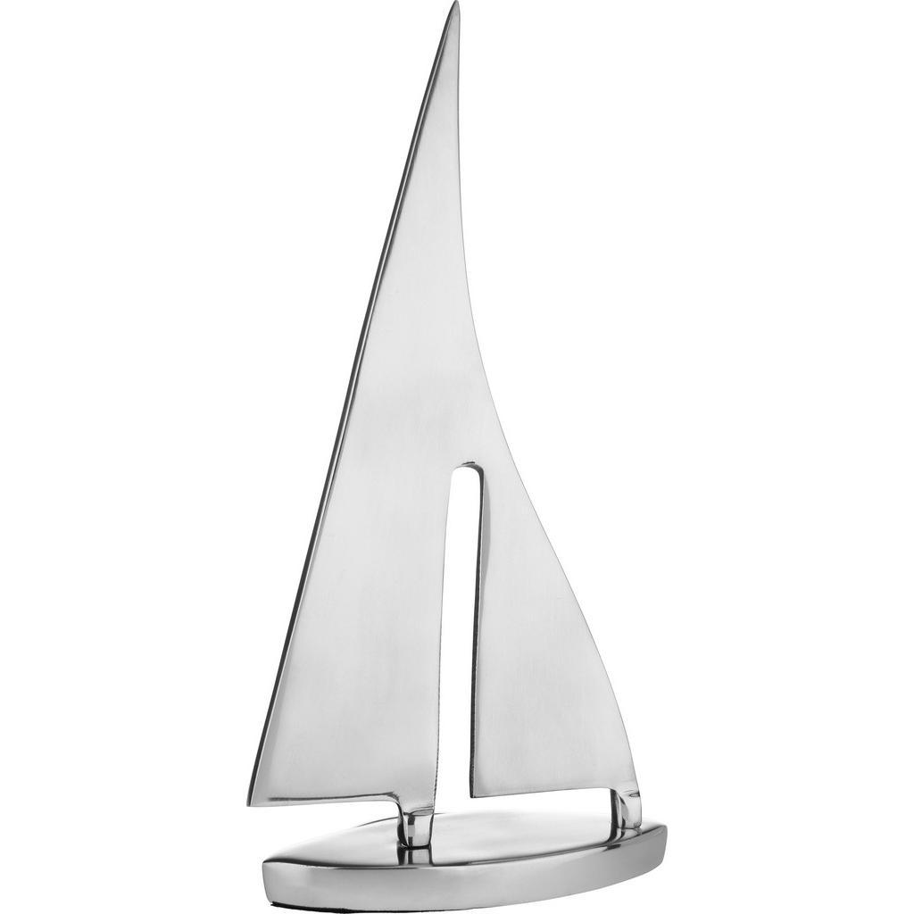 Dekoschiff Mara in Silberfarben