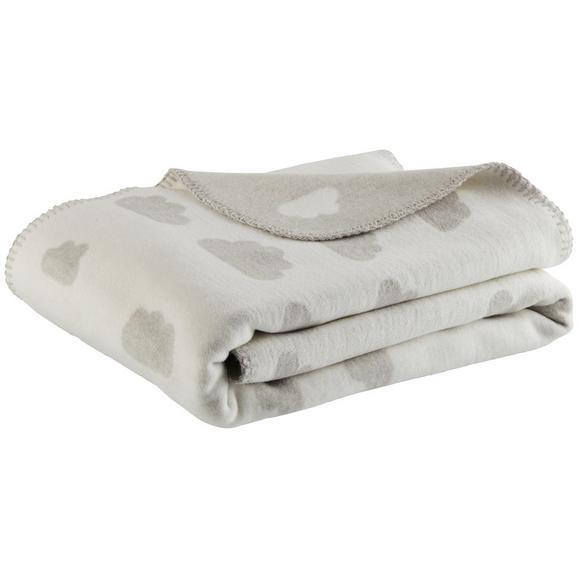 Babydecke Wölkchen ca. 75x100cm - Hellgrau, Trend, Textil (75/100cm) - Premium Living