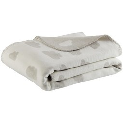 Babydecke Wölkchen Hellgrau 75x100cm - Hellgrau, Trend, Textil (75/100cm) - Premium Living