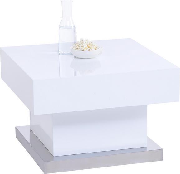 Couchtisch Weiß Hochglanz - Weiß, MODERN, Holzwerkstoff/Metall (60/40/60cm) - Based