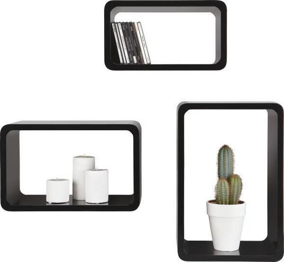 Stenski Regal Trient - črna, Moderno, kovina/umetna masa (45/40/35/30/25/20/20cm) - MÖMAX modern living