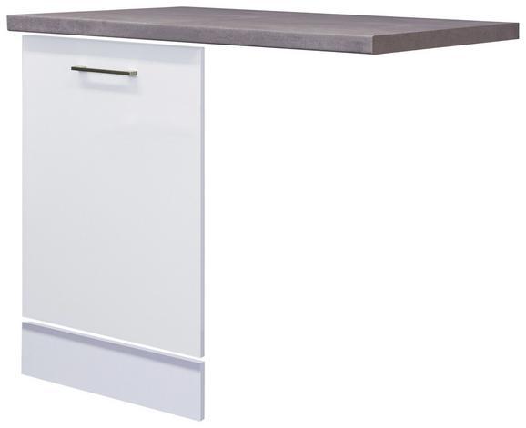 Küchenunterschrank Weiß - Edelstahlfarben/Weiß, MODERN, Holzwerkstoff/Metall (110/60cm)
