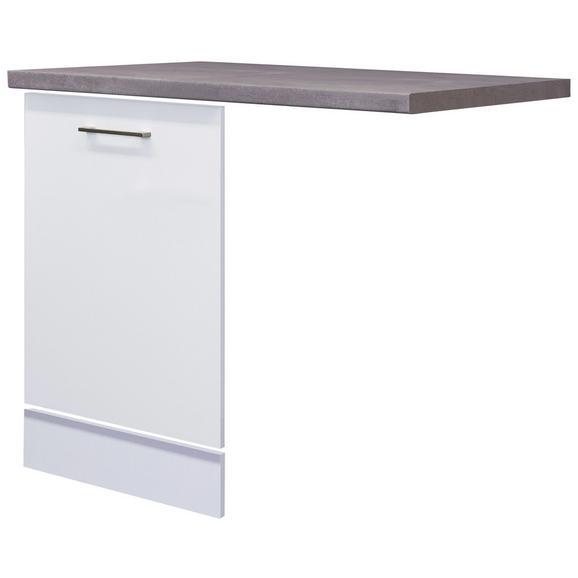 Kuhinjska Spodnja Omarica Neo - bela/nerjaveče jeklo, Moderno, kovina/leseni material (110/60cm)