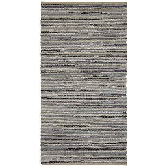 Handwebteppich Verona 2 in Grau - Grau, Basics, Textil (80/150cm) - Modern Living