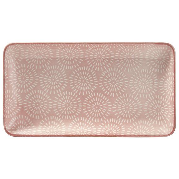 Platou Nina - roz, ceramică (12cm) - Modern Living