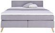 Boxspringbett Grau 160x200cm - Eichefarben/Grau, MODERN, Karton/Holz (206/160/100cm) - Modern Living