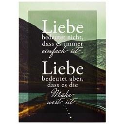 Postkarte Statements in Grün - Multicolor, Papier (10,5/14,8cm) - VS Visual Statements