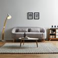 Sofa in Hellgrau 'Jannike' - Grau, MODERN, Holz/Textil (207/84/80cm) - Bessagi Home