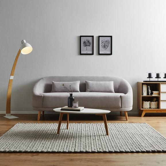 Sofa Jannike Dreisitzer inkl. Rückenkissen - Grau, MODERN, Holz/Textil (207/84/80cm) - Modern Living
